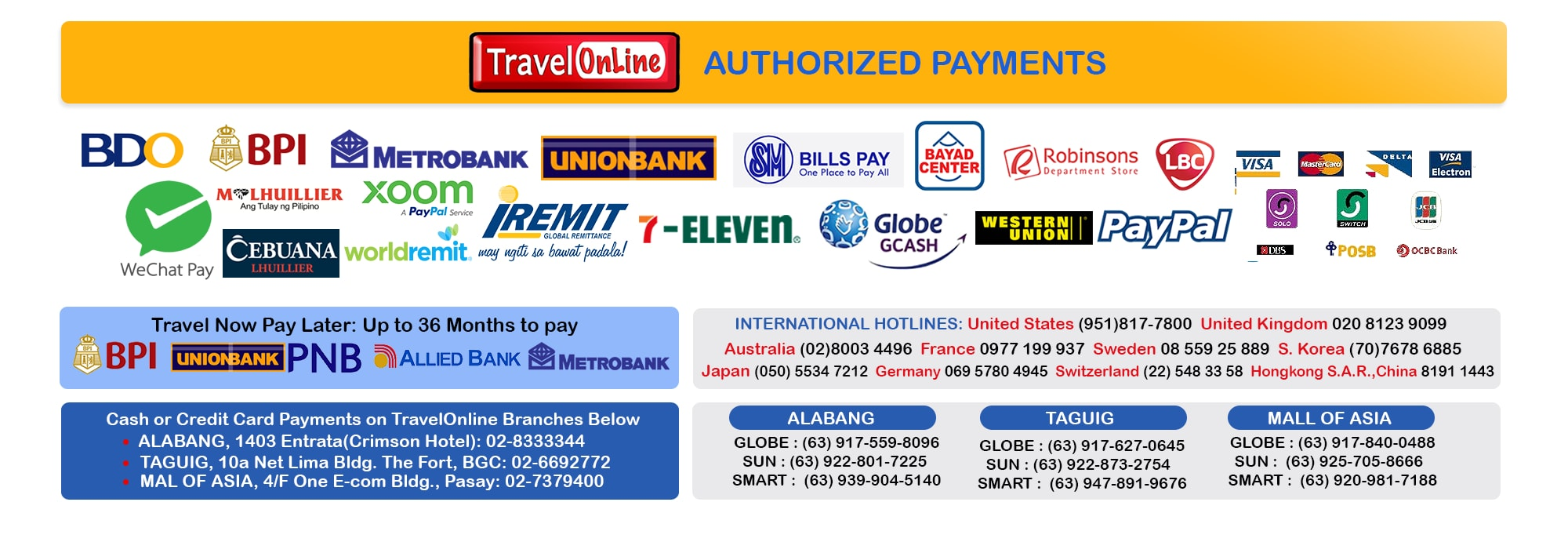 TravelOnline Philippines Travel Agency Contact Promos