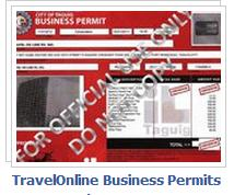 travelonline business permits