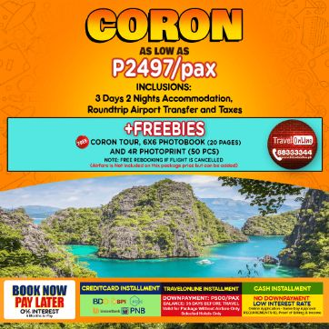 Travelonline Philippines Travel Coron Packages