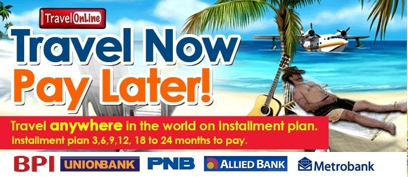 travel now pay later travelonline